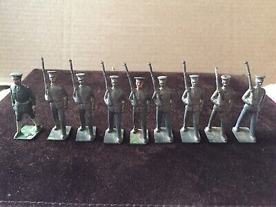 £14.99 • Buy 9 X Britains Vintage Lead Toy Soldiers. 3 With Loose Necks.