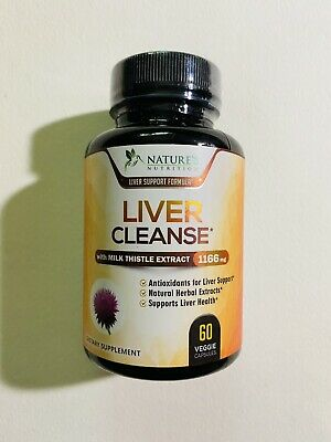 $8.99 • Buy Nature's Nutrition Liver Cleanse Milk Thistle - 1166mg -60 Capsules -Exp 12/2023