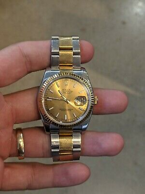 $ CDN2549.17 • Buy Rolex Datejust 36mm 116233 Stainless/Yellow Gold With Champagne Index Dial Watch