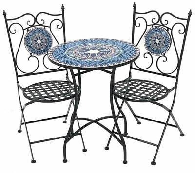 AU549.99 • Buy Willow 3 Piece Tiles Setting Table Chair Setting Patio Garden Outdoor 60x71cm