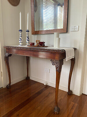 AU150 • Buy Antique Tall Side Table With Carved Legs