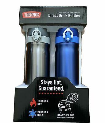 AU61.90 • Buy NEW 2 X Thermos Water Bottles Vacuum Insulated Stainless Steel Direct Drink Set!