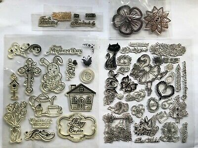 £5.99 • Buy Silicone Clear Stamps Sentiments/Flowers Stamping/Scrapbooking/Journal 45pcs
