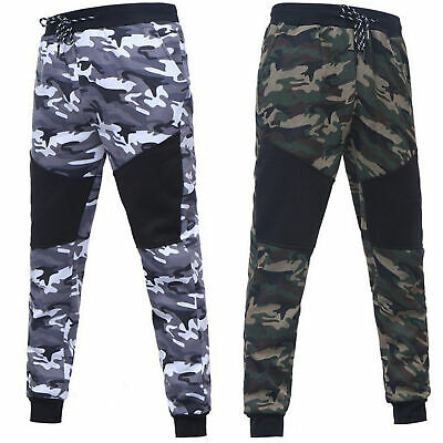 $ CDN31.84 • Buy Camouflage Stitching Pants Men's Casual Slim Sports Trousers