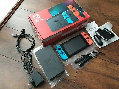 $ CDN380.76 • Buy Nintendo Switch Console V2 Neon With Improved Battery Including Receipt And Box