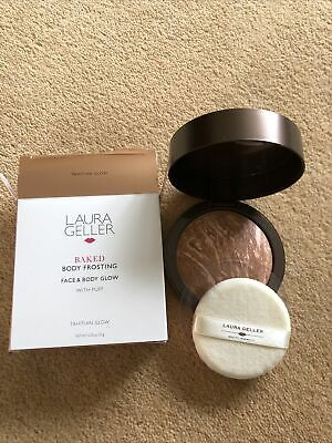 £23 • Buy 👄Laura Geller👄Baked Body Frosting Face & Body Glow &Puff~Tahitian Glow~24g New