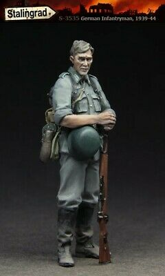 £3.95 • Buy UK Shipping 1:35 Scale Unpainted Resin Figure German Infantry Soldier At Rest 10