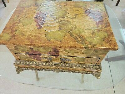 $299 • Buy Maitland-Smith Large Cutlery Box Brass Mounts Grapes CR 1444 328