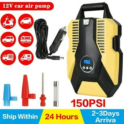 £23.99 • Buy Universal Inflatable Pump 12V Tyre Air Compressor LED For Motor Car Auto Vehicle
