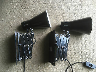 £18 • Buy Sale For Pair Of Black Anglepoise Style Industrial Type Wall Lamps