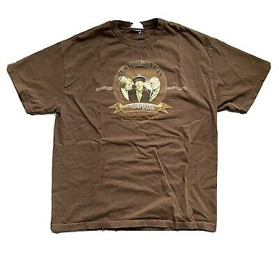 $ CDN25.11 • Buy Vintage 2004 The Three Stooges Certified Nuts Graphic T-Shirt Brown Size L/XL