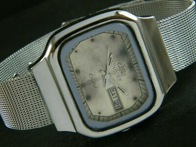 $ CDN1.25 • Buy VINTAGE ORIENT CRYSTAL AUTOMATIC JAPAN MENS DAY/DATE WATCH 374q-a189457-9