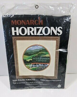 $39.95 • Buy Monarch Horizons Longstitch Kit Mail Pouch Tobacco Pure Wool Brand New