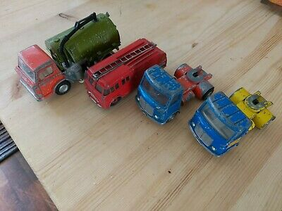 £30 • Buy Dinky Truck Lot AEC Articulated Lorry Bedford Fire Engine Johnston Road Sweeper