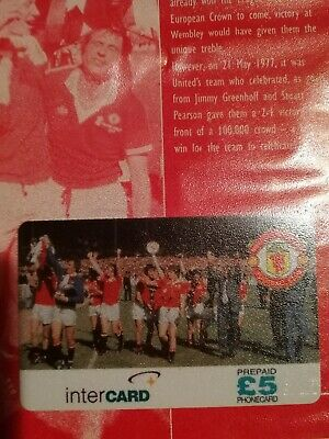 £30 • Buy Manchester United RARE Phone Cards ( V LIVERPOOL 77)