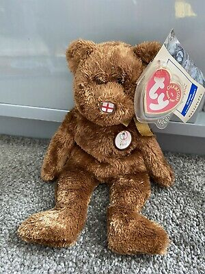 £5.99 • Buy Ty Champion Beanie Baby Bear ENGLAND Nose FIFA 2002 World Cup Official Licensed