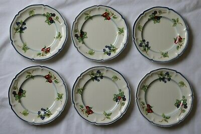 £10 • Buy Villeroy & Boch 1748 Country Collection 6 X Side Plates 6 7/8  Diameter.