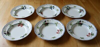 £10 • Buy Villeroy & Boch 1748 Country Collection 6 X Shallow Bowls 9  Diameter.