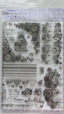 £5.75 • Buy Faberdashery Clear Stamp Set By Hunkydory- Mixed Multiple Of Stamps