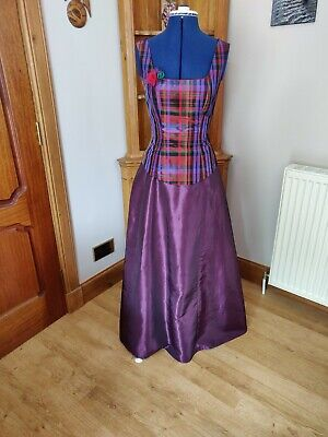 £30 • Buy Ladies Taffeta Skirt With Bustle And Tartan Top Stage Theatre Outlander Costume