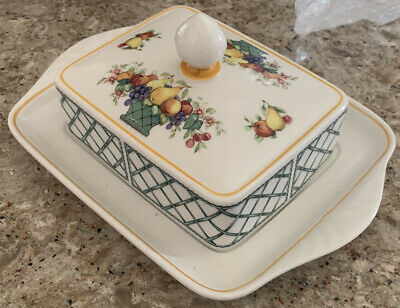 £54.02 • Buy VILLEROY & BOCH Basket Rectangular Covered Butter Dish With Lid