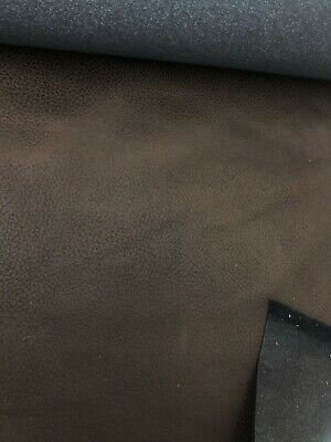 £11 • Buy 2.3 Metres Brown Faux Leather Remnant Of Upholstery Fabric
