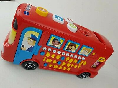 £14.99 • Buy Vtech Playtime Bus 1500 Educational Learning Toy Phonics Alphabet Numbers VGC