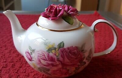 £26 • Buy ROYALE STRATFORD COUNTRY COTTAGE COLLECTION TEAPOT Old Garden Rose's Porcelain