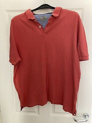 £5 • Buy Marks And Spencer Mens Talored Fit Polo Shirt. Size 2xl. Salmon Pink. Exc. Cond