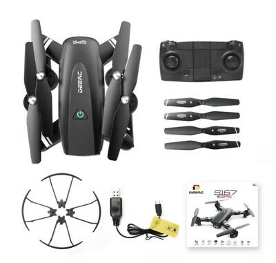 £30 • Buy DEERC S167 Foldable FPV RC Drone With 2.4G WIFI 1080p HD Camera GPS Follow Me.