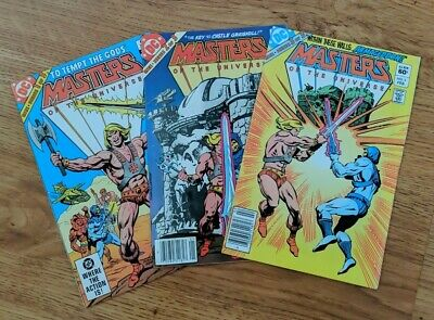 $105 • Buy DC Comics Masters Of The Universe 1-3 Complete Newsstand Edition VF/VF+ He-Man