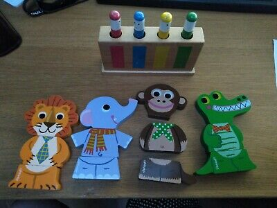 £8 • Buy Janod Funny Magnets Animals Wooden Toy And Galt Pop Up Toy 12-36m