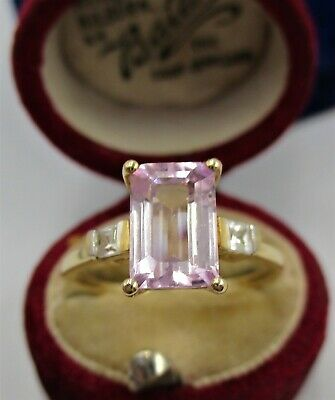£47 • Buy Fully Hallmarked 9ct (10ct Gold) Gems TV Ring. Set With A Natural Ametrine Gem!