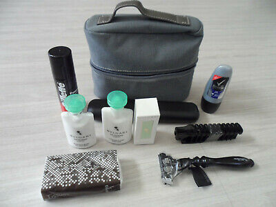 AU54.34 • Buy NEW! BVLGARI Men's Grey Travel Kit Made Exclusively For Emirates First Class! A