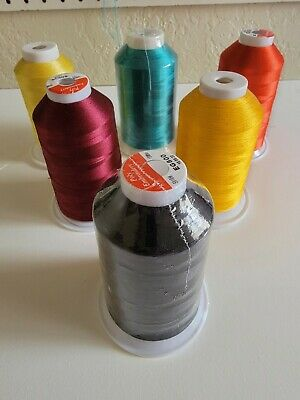 $13.89 • Buy 6 Polyester Machine Embroidery Thread Huge 5000m (5500 Yard) Cones !