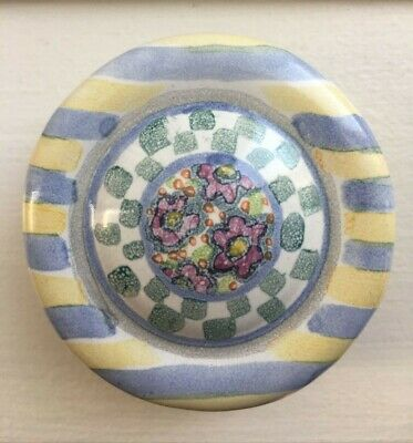 $25 • Buy Mackenzie Childs Hand Painted Pottery Drawer Pull/Knob MYRTLE