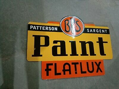 $ CDN1.25 • Buy Porcelain BPS Paint Enamel Sign Size 34  X 24.25  Inches Double Sided