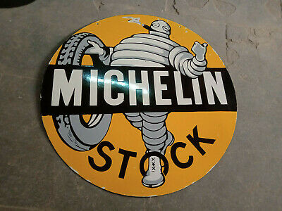 $ CDN2.83 • Buy Porcelain Michelin Stock Enamel Sign Size 30  Inches Double Sided