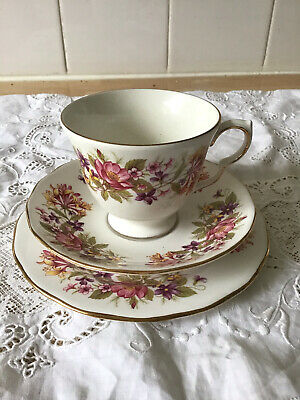 £5.99 • Buy Colclough Bone China Wayside Pattern. Vintage Trio.(G.C) 2 Available.