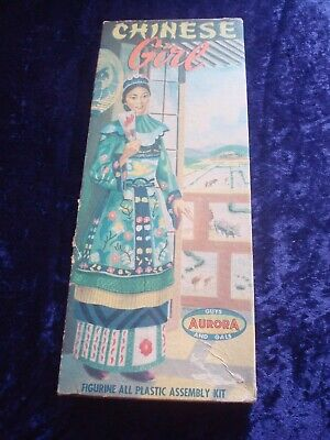 £79.99 • Buy Chinese Girl Aurora Model Kit Vintage Boxed Complete Unmade 1957 Figure Kit Rare