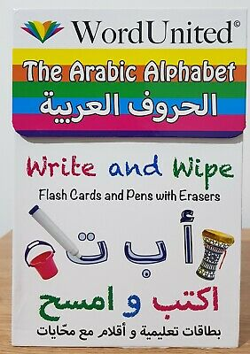 £3.99 • Buy The Arabic Alphabet Flash Cards (Write And Wipe)