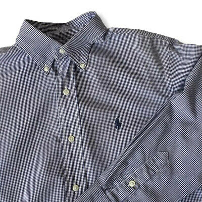 £18.99 • Buy Polo By Ralph Lauren Mens Shirt Check Gingham Blue Size 16