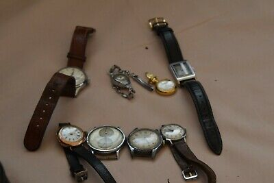 £87 • Buy Job Lot Of 8x Vintage Watches For Spares Or Repair Includes Rare Regulator Watch