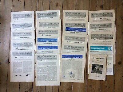 £6 • Buy Vintage Farm Machinery Booklets 1950s/60s /Leaflets & Young Farmers Booklet 7