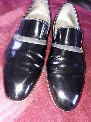 £24.99 • Buy Mens Moreschi For Russell And Bromley Black Leather Slip On Shoes UK SIZE 10.5
