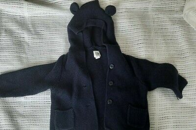 £3.99 • Buy Gap Baby Boy Cable Knit Jumper Cardigan Hoodie 6-12 Months