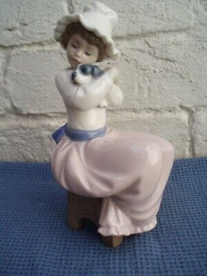 £12.99 • Buy Sweet Collectable Nao Porcelain Figure Of A Seated Young Girl Holding A Puppy