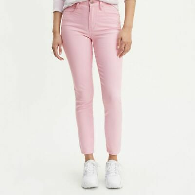 £20.99 • Buy LEVI'S 721 HIGH RISE SKINNY ANKLE JEANS 26 Pink NEW WITH TAGS BIG E Tab Stretch