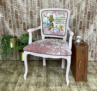 £165 • Buy French Style Louis Carver Chair Alice In Wonderland Reupholstered