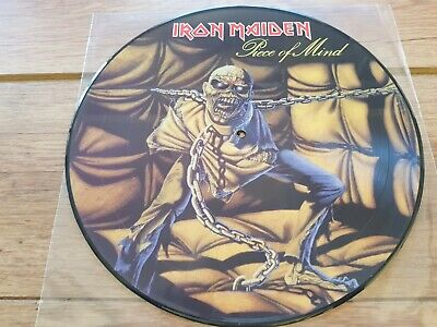 £28.99 • Buy Iron Maiden -  Piece Of Mind -  Rare 9 Track Picture Disc Reissue  Lp Mint Copy